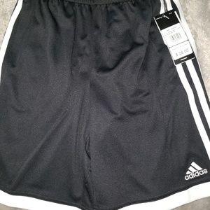 Big boys 14/16 NWT Adidas shorts black white